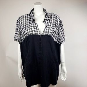Lane Bryant Houndstooth Top Size 28
